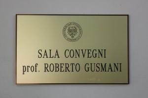 PALAZZO ANTONINI sala Convegni ROBERTO GUSMANI
